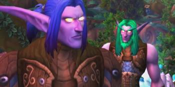 Illidan und sein Zwillingsbruder Malfurion in einer von Xe?ras Errinerung.