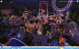 Unser Park bei Nacht
